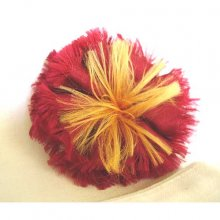 Fair Trade Double Silk Frill Flower Brooch